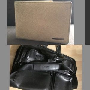 Tumi Leather Laptop Bag and wallet